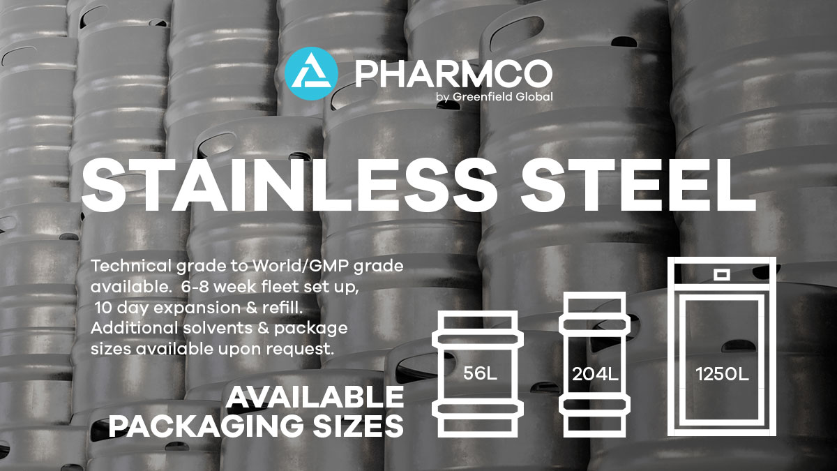 Pharmco Adds Stainless Steel Returnable Fleets for Life Science Customers in North America