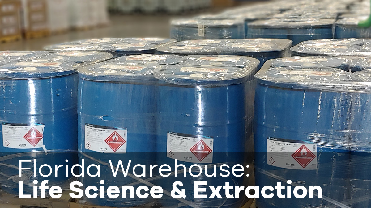 Pharmco announces new warehouse in Ocala, Florida for its industry-leading specialty alcohols and high purity solvents